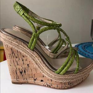 Elie Tahari New Skin Wedge Heels Size 6.5 M